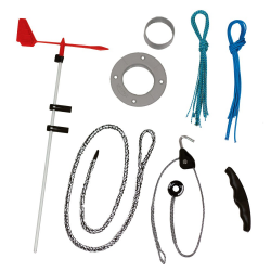 kit with complements for optimist mast